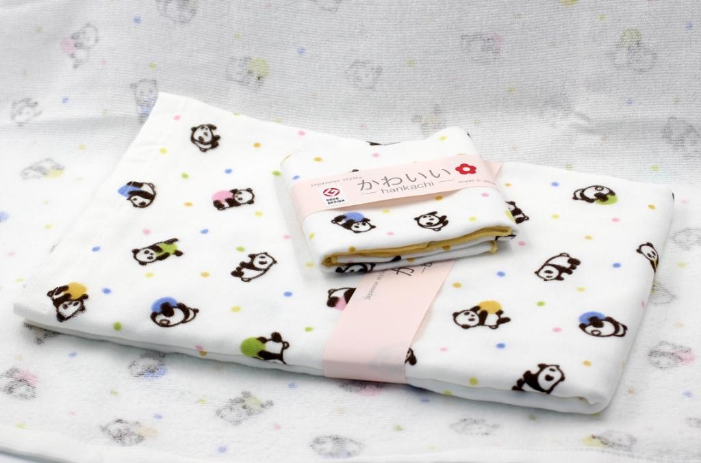Khăn tắm Nhật Nissen mẫu gấu trúc