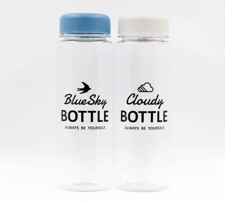 Bình uống nước có nắp đậy 500ml (nắp xanh, trắng)