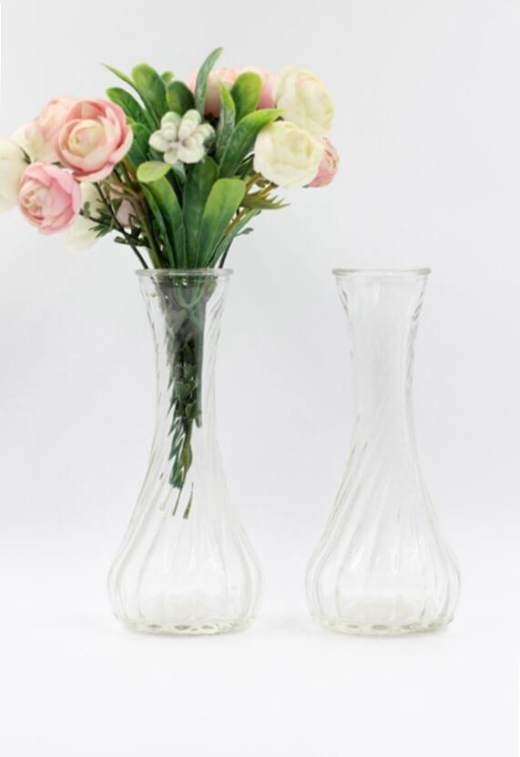 Lọ hoa thủy tinh mẫu cổ nhỏ (màu trong)