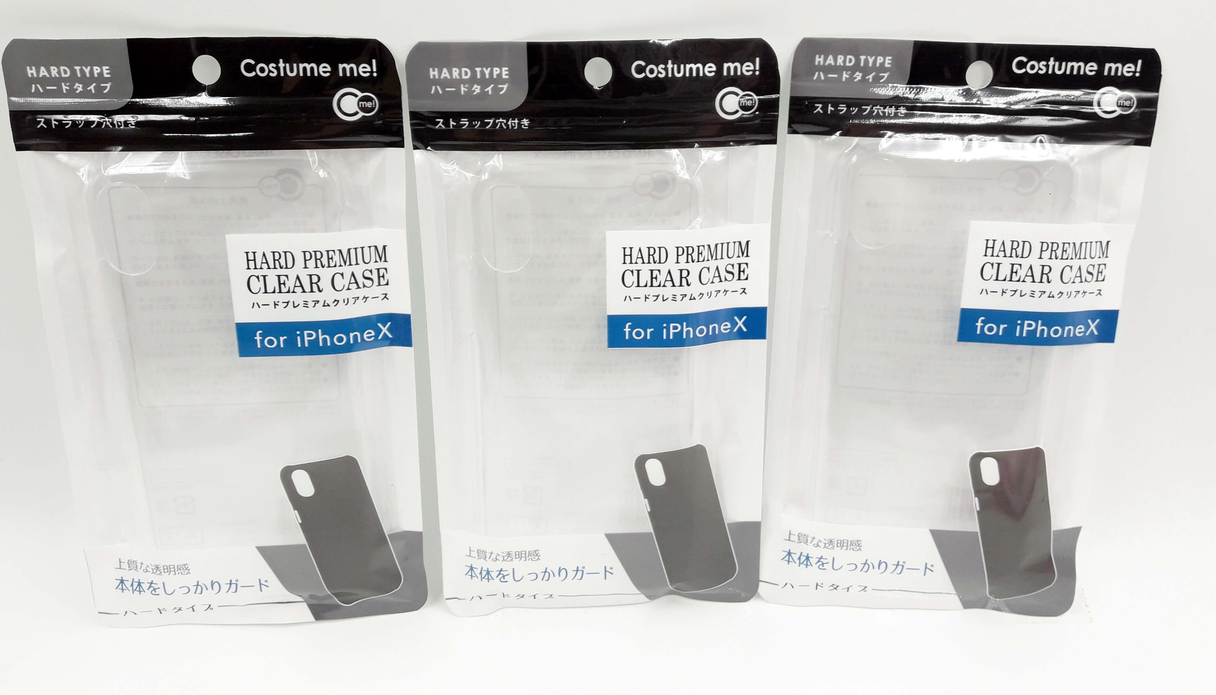 Ống lưng iPhone X loại cứng màu trong