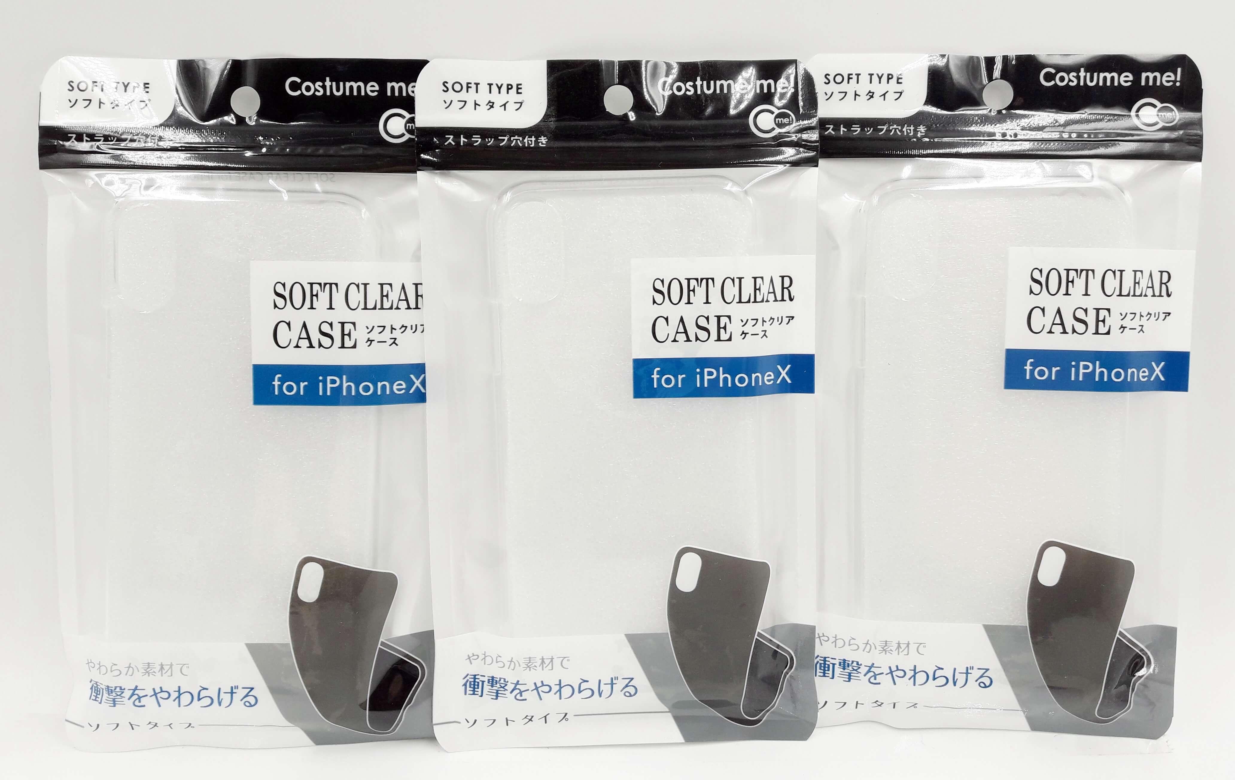 Ống lưng iPhone X loại mềm màu trong