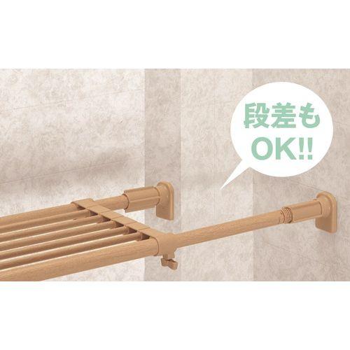 """Kết quả hình ảnh cho Kệ chia ngăn không cần khoan vít Heian màu nâu, 73cm kéo dài 112cm (M1)"""""""