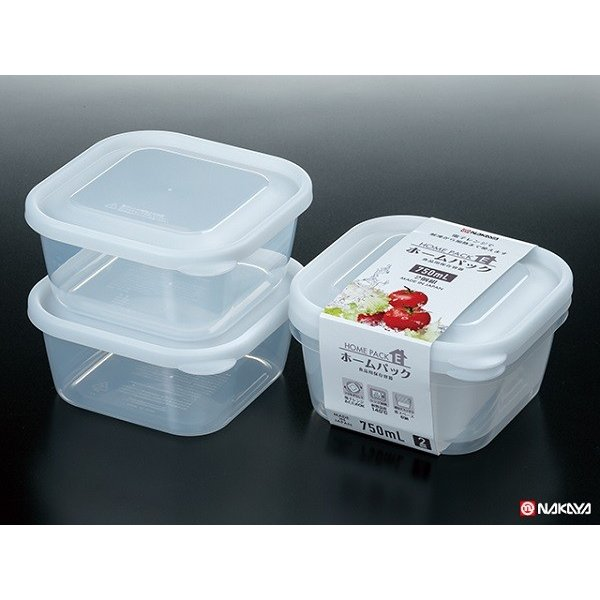 Set 2 hộp nhựa 650ml (nhựa trong)