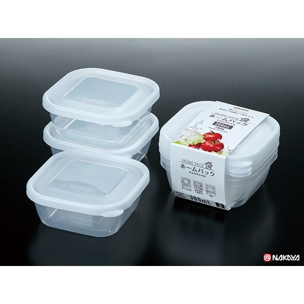 Set 3 hộp nhựa 380ml (nhựa trong)