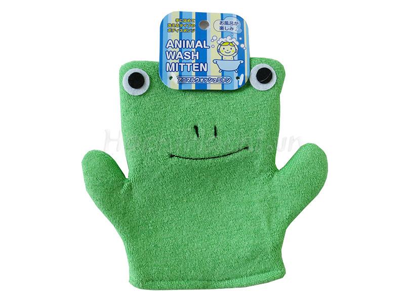 Găng tay tắm bé hình ếch