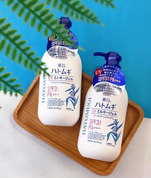 Sữa dưỡng thể chống nắng Hatomugi chiết xuất từ hạt Ý Dĩ 250ml