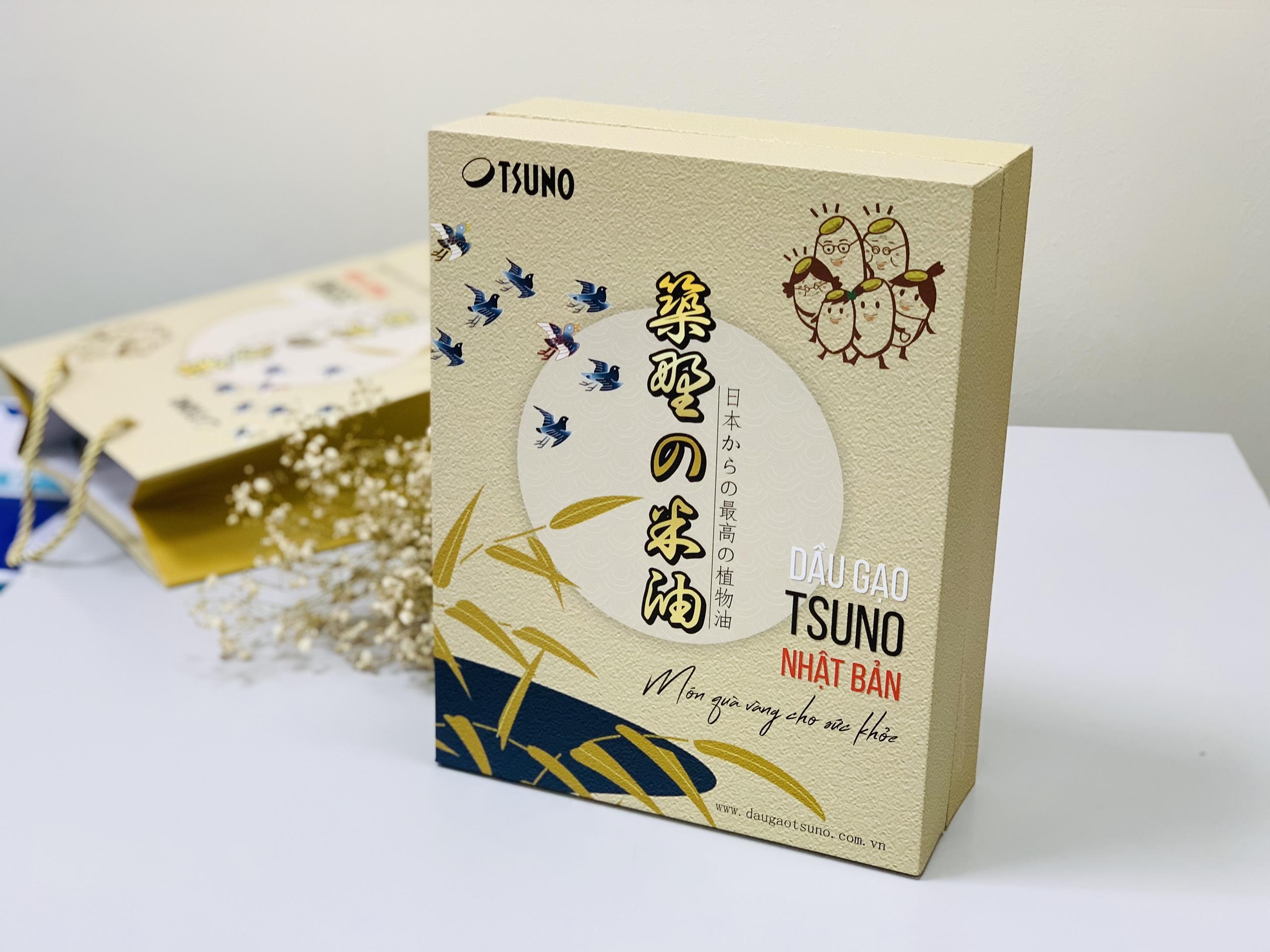 Hộp quà Tết - Dầu gạo Tsuno