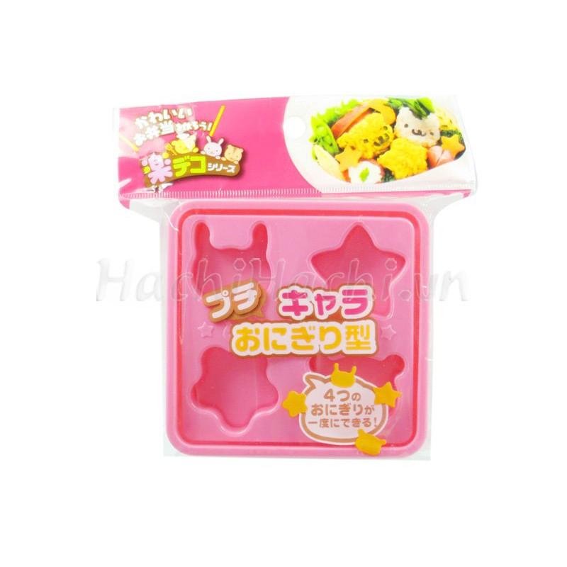 Khuôn ép cơm Bento (gấu, thỏ, ngôi sao)
