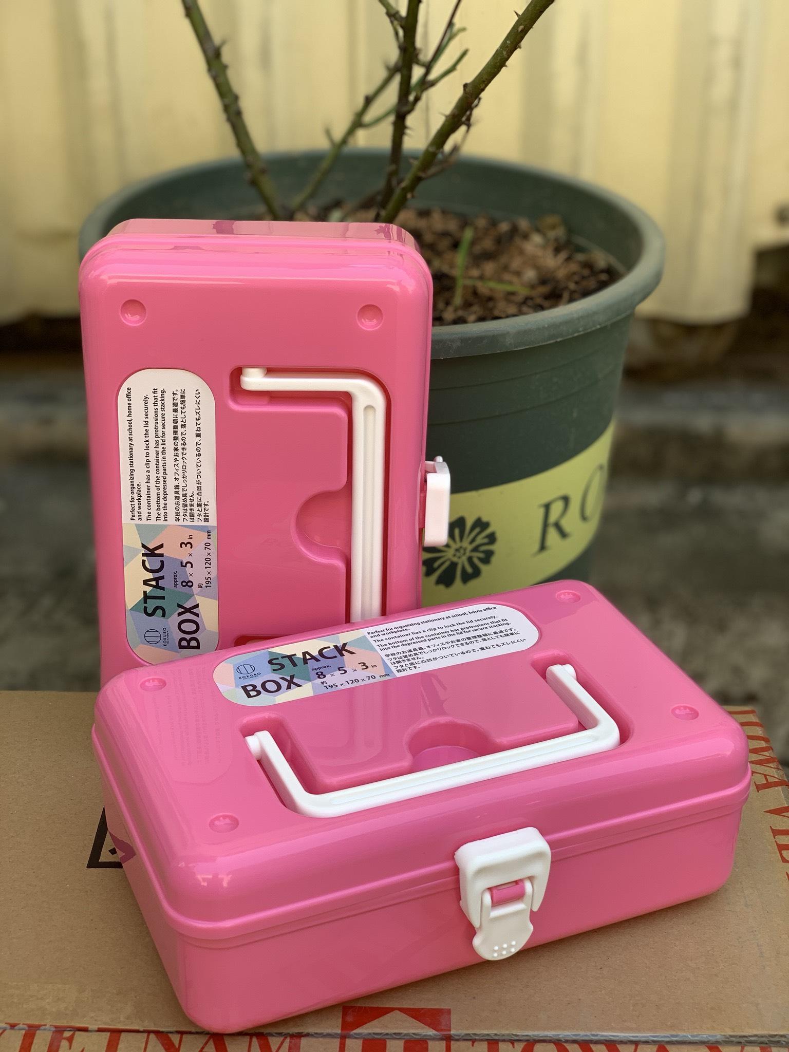 Hộp đựng thuốc và dụng cụ y tế cỡ nhỏ (màu hồng)