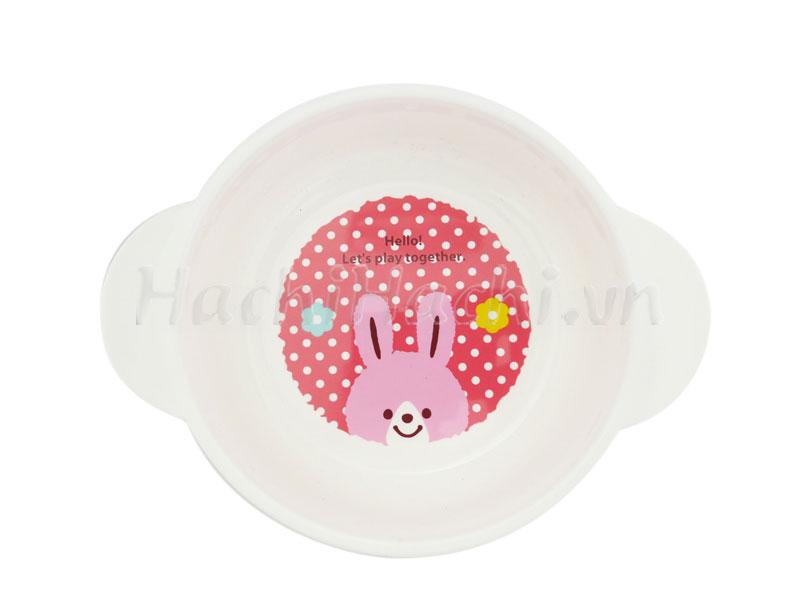 Bát ăn cho bé cho quai cầm, hình gấu thỏ