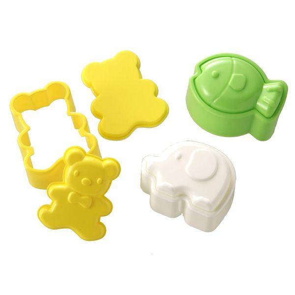 Set 3 khuôn tạo hình đồ ăn M'sa (mẫu cá, voi, gấu)
