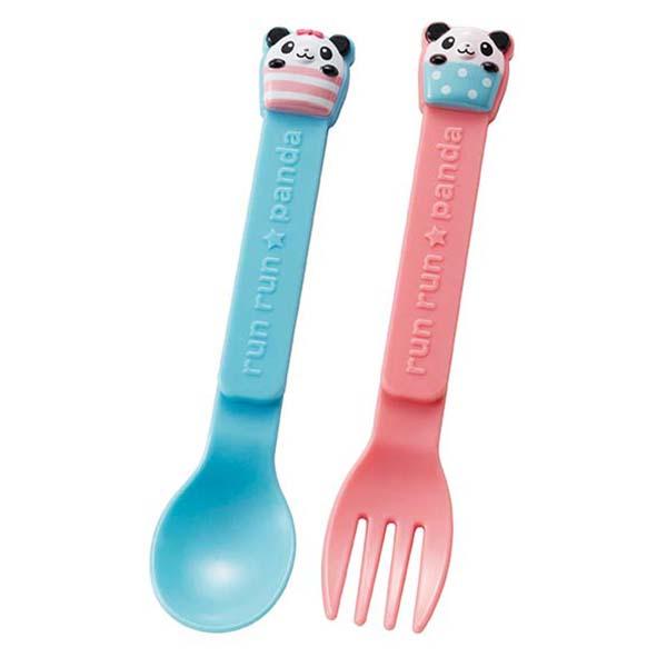 Set 6 thìa, dĩa nhựa cho bé hình gấu trúc