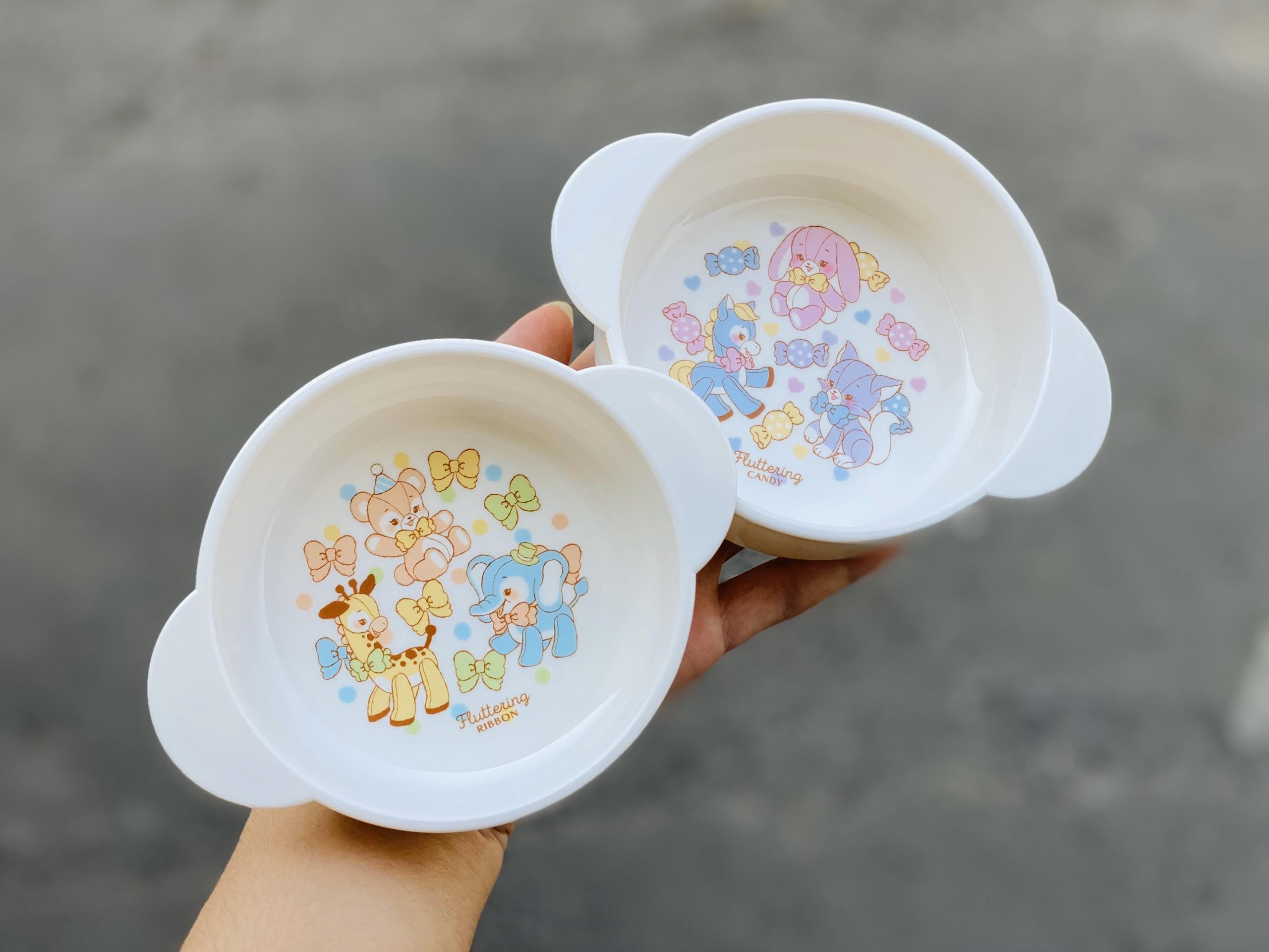 Bát ăn cho bé có quai cầm hình thú Nakano (mẫu mới)