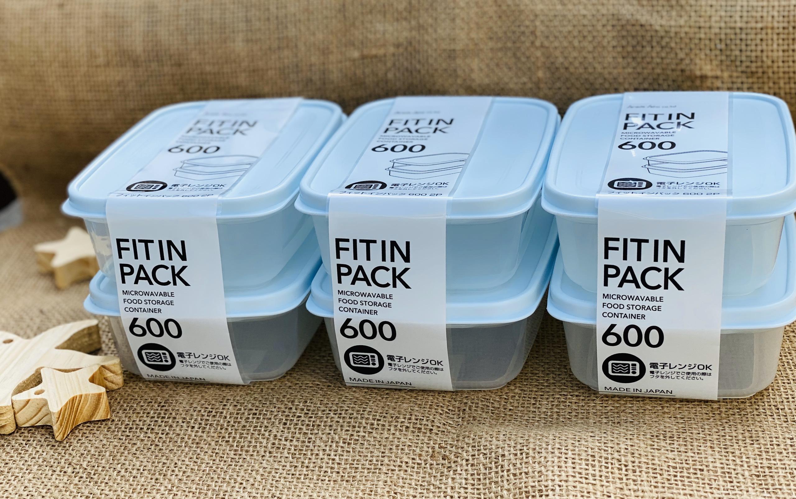 Set 2 hộp nhựa nắp dẻo 600ml (màu xanh Mint)
