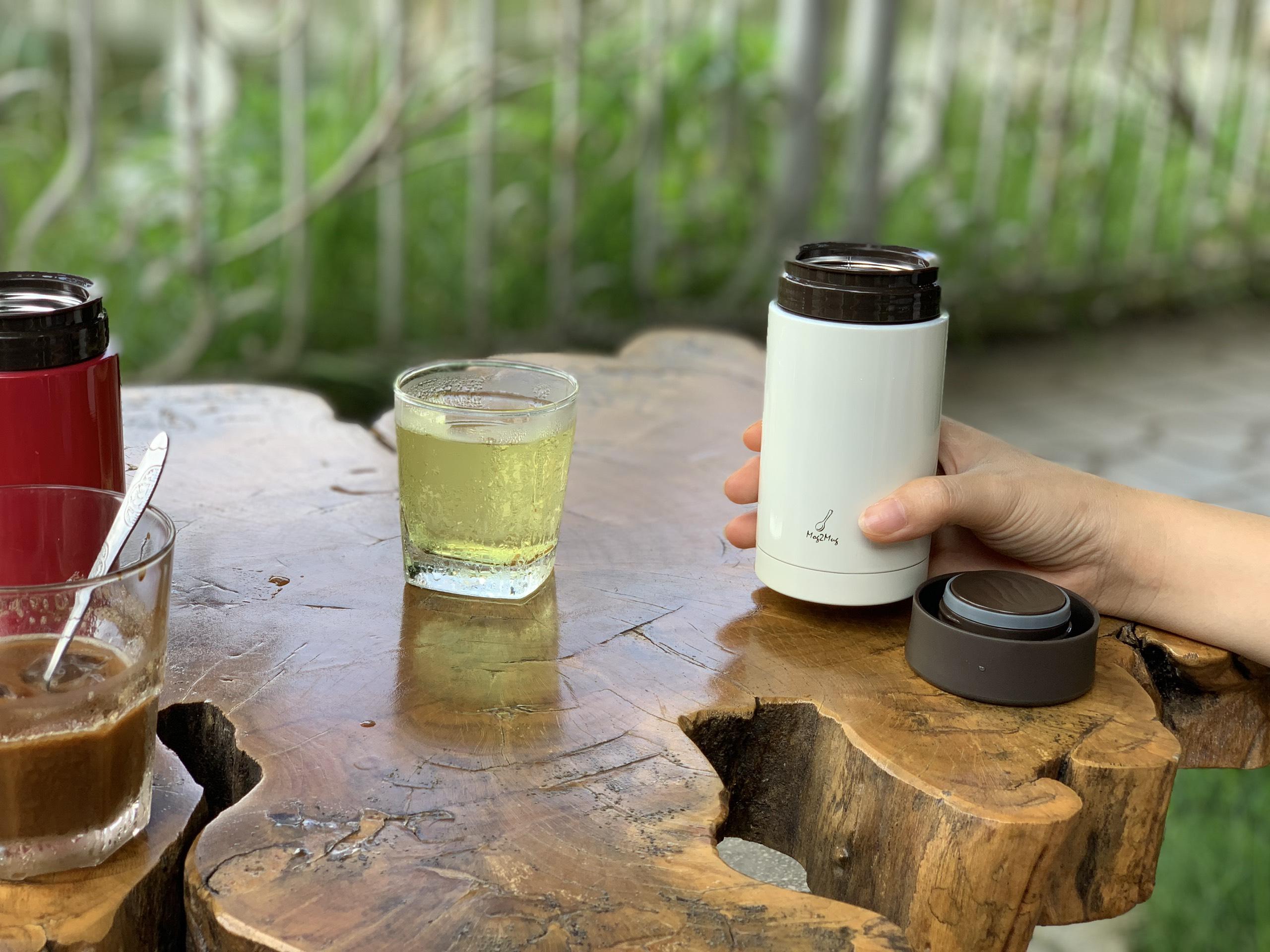 Bình giữ nhiệt cỡ nhỏ 250ml Mog2Mug (màu trắng)