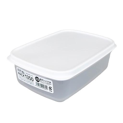 Hộp nhựa nắp dẻo 1350ml (màu trắng)