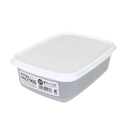 Hộp nhựa nắp dẻo 900ml (màu trắng)