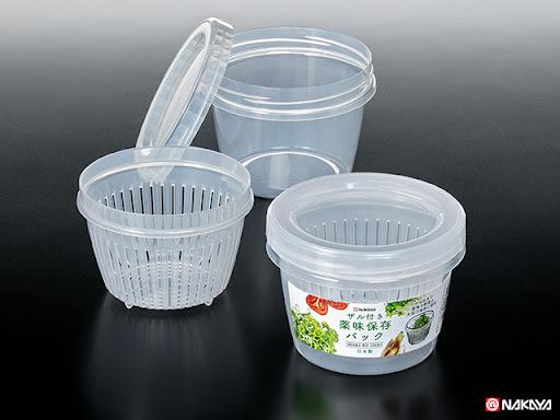 Hộp nhựa đựng thực phẩm 2 lớp 500ml dáng tròn Nakaya