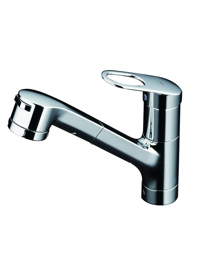 Vòi rửa bát Toto TKGG32EB( dây rút, xoay được đầu vòi)...
