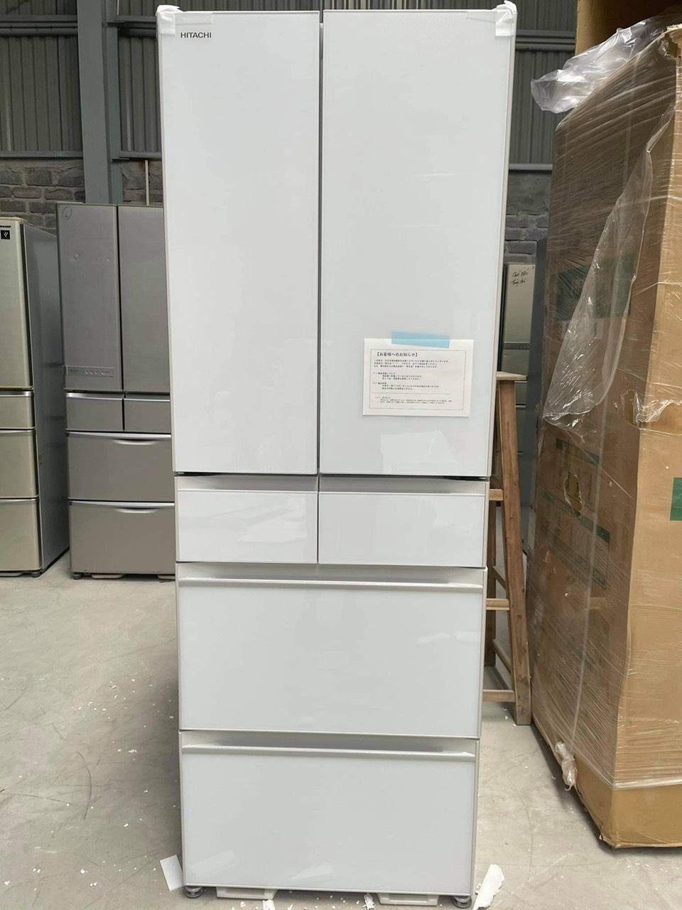 Tủ lạnh hitachi mặt gương màu trắng R-HW52N XW màu trắng