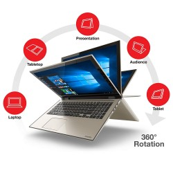 TOSHIBA Satellite  L55W-C5220 Core i7-5500U/8G/120SSD/touch 15.6/2-in-1 Laptop/Rose Gold
